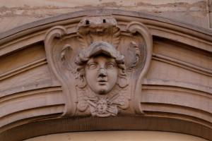 Minerve avec emblèmes de l'architecture